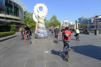 Cruising down the Yarra Promenade