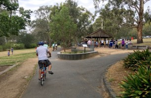 The surrounding park is popular for family picnics and BBQ's it seems