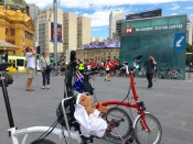 We weren't the only cycle group meeting at Fed Square today