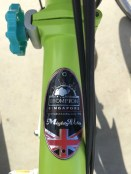 """""""Mighty Velo"""" is Singapore's Brompton dealer, and this is their 'sticker' - pretty neat, huh?"""