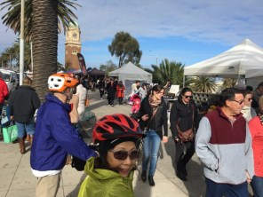 We checked out the markets along The Esplanade