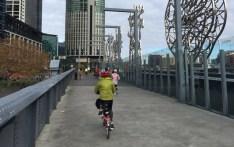 We crossed the river on Sandridge Bridge, having bypassed the foot traffic along Southbank Promonade
