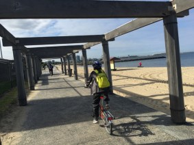 We've made it to the Bay Trail and Port Philip Bay