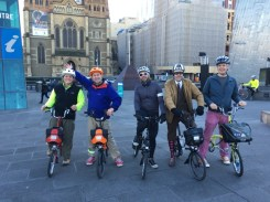 A cold morning, but we were all set to go! Thanks Adam for taking the photo for us - #MelburnRoobaix #Melbourne #Brompton Club - by Dayna