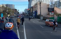There was a tide of bicycle riders ahead - #MelburnRoobaix #Melbourne #Brompton Club