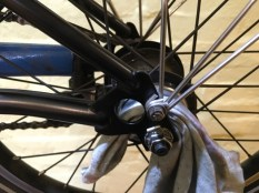 Give the bolts a clean as well as the hub