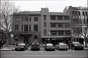 Scots Church Hall and Carpark - photo by Adam Dimech. Demolished 2012.