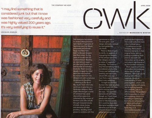article 2: pg 11, The AFR Magazine, April 2009