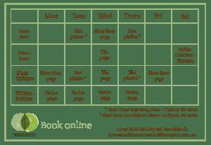 melbourne yoga timetable