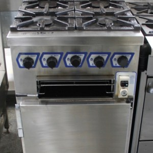 Star 4 Burner Oven Range with Salamander