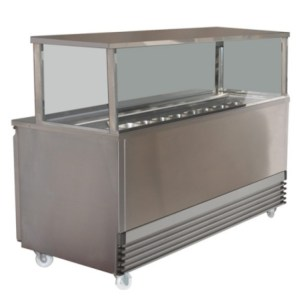 Koldtech Square Glass Sandwich Preparation Bench