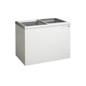 ICS Pacific IG Flat Top Glass Sliding Lid Freezer