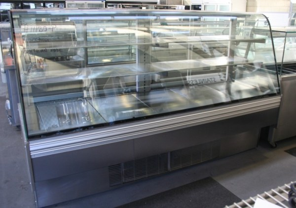 Curved Glass Refrigerated Display Fridge