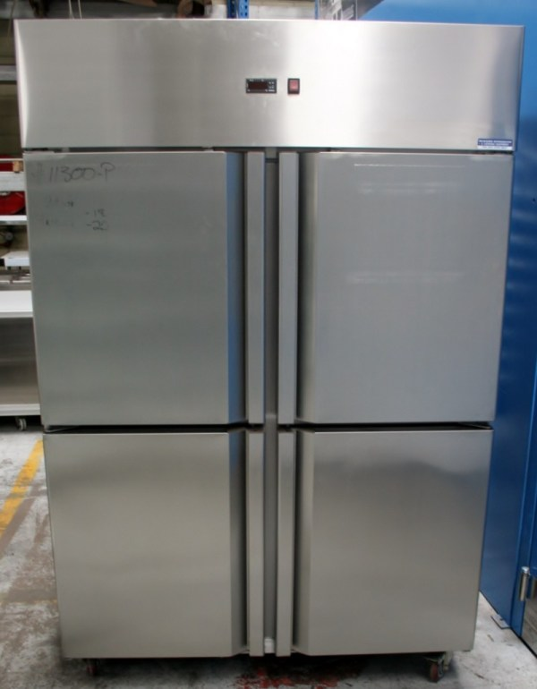 4 Half Door Upright Solid Freezer