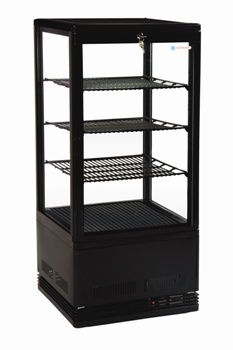 Venice Black Bench Top Display Fridge