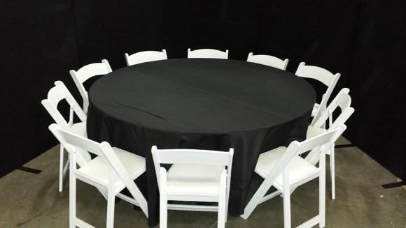 10 white folding around 1.8m round