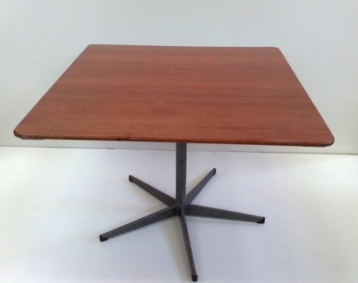 1m Square Red Wood Cafe Table
