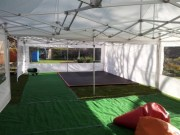 Inside 6m x 12m Marquee