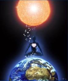 Cosmic solar sound codes to earth