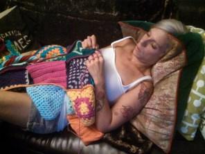 Crocheting a blanket