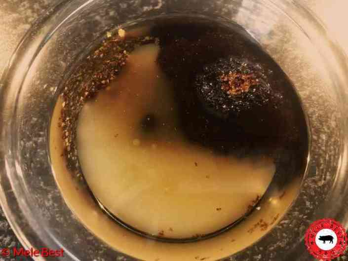 Kalfsribeye spies met zwarte pepersaus