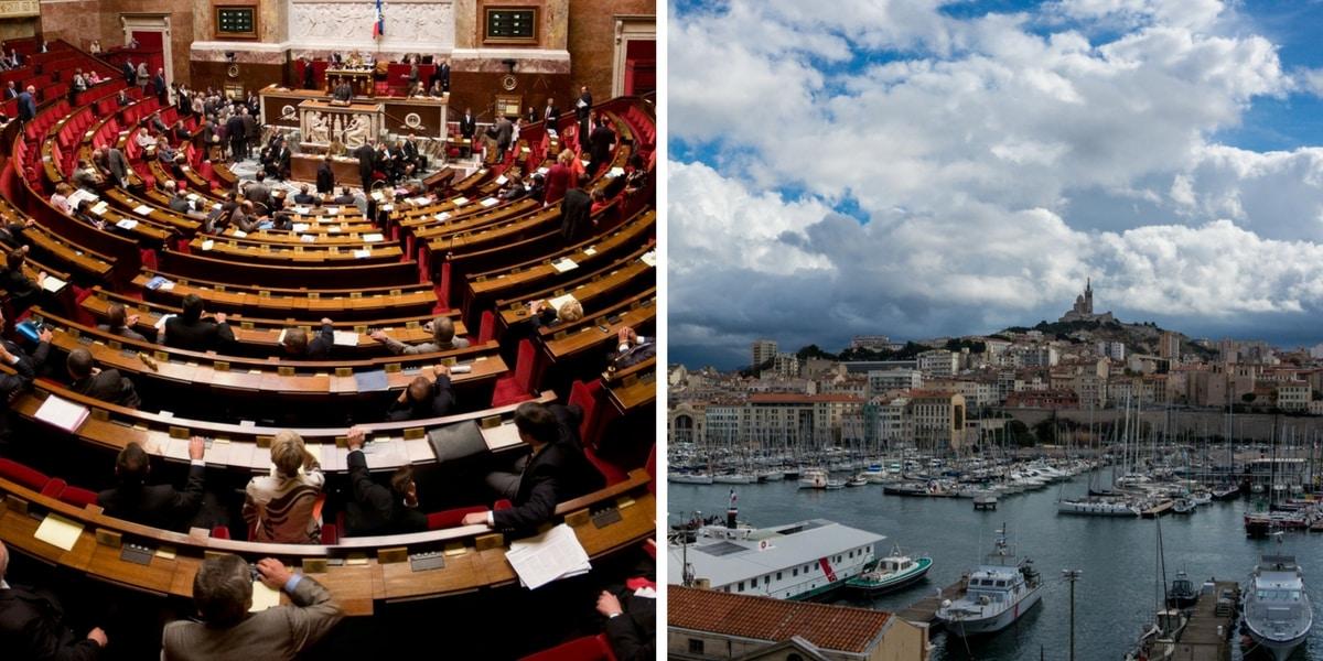 Entre Marseille et l'Assemblée nationale
