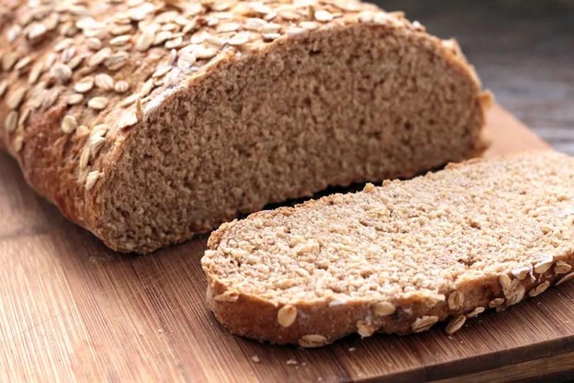 Pão integral de Aveia