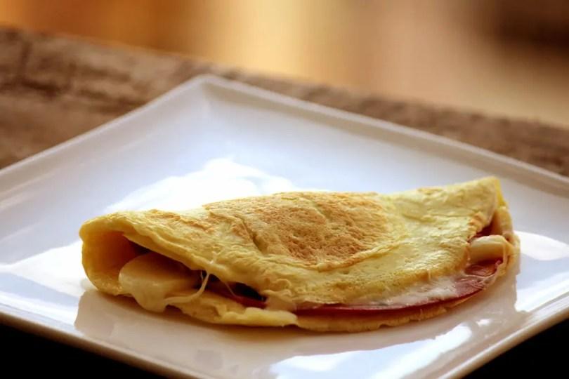Crepioca recheada - Omelete com farinha de tapioca