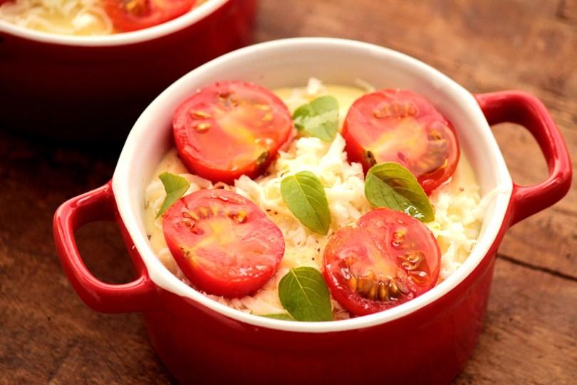 Torta salgada de batata-doce e tomate-cereja - Receita fácil e deliciosa