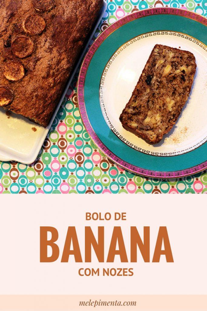 Bolo de Banana com Nozes