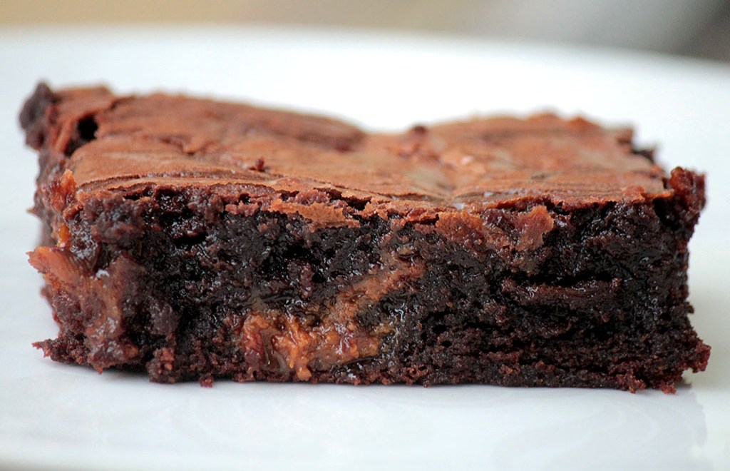 Brownie de chocolate com doce de leite