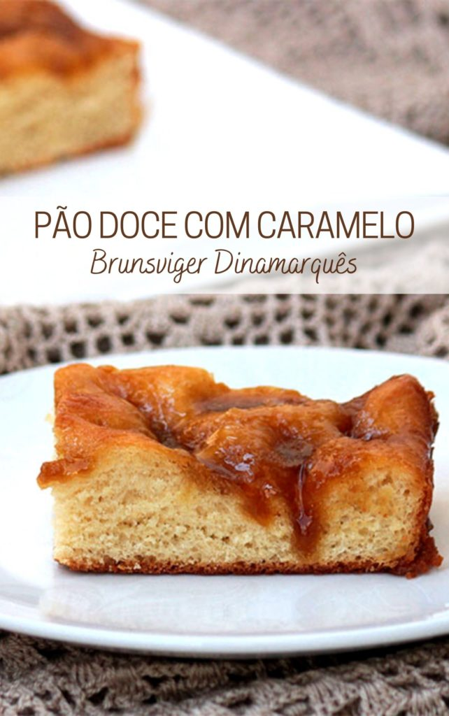 Pão doce com caramelo | Brunsviger Dinamarquês