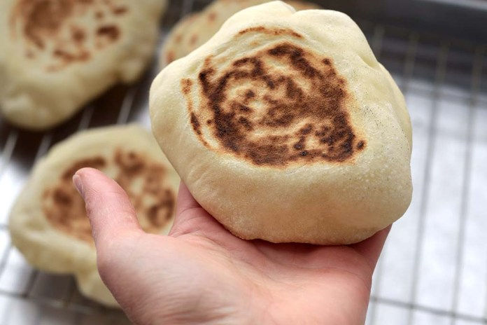 Pão Sírio   Pão pita ou pão árabe caseiro