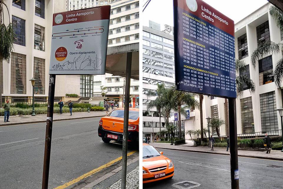 Como ir de ônibus do aeroporto de Curitiba para a cidade