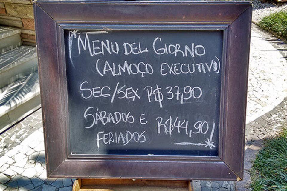 Onde comer em Porto Alegre almoço comida italiana menu executivo