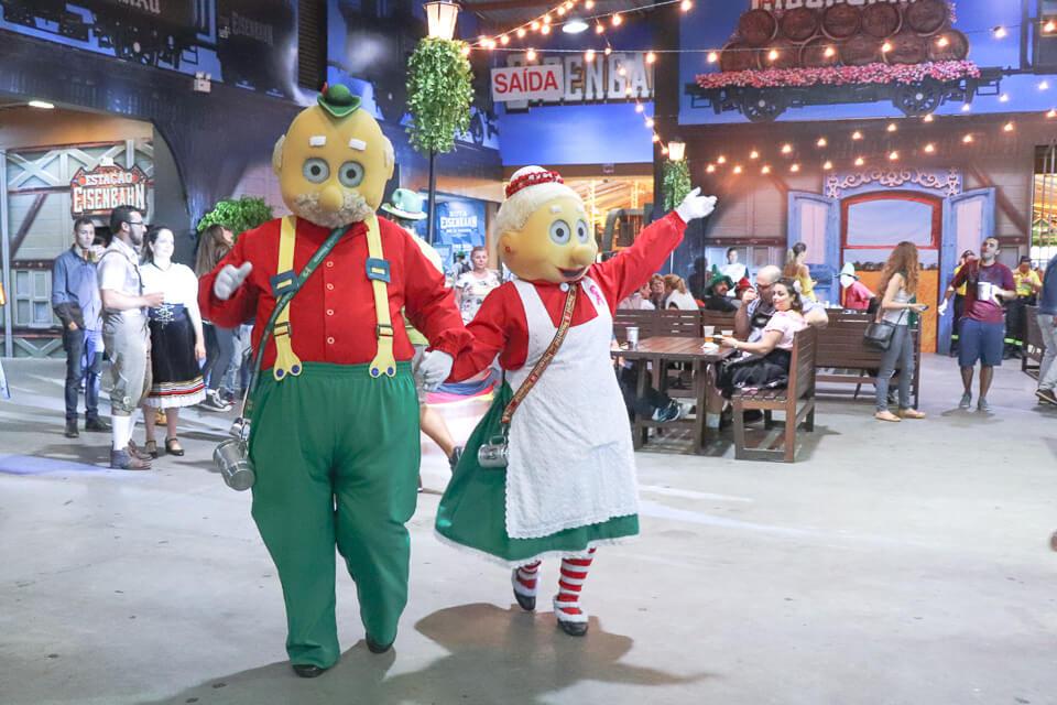 Mascotes da Oktoberfest Blumenau