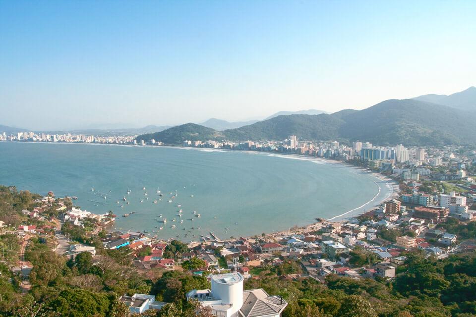 Litoral de Santa Catarina, Itapema, vista do mirante do encanto