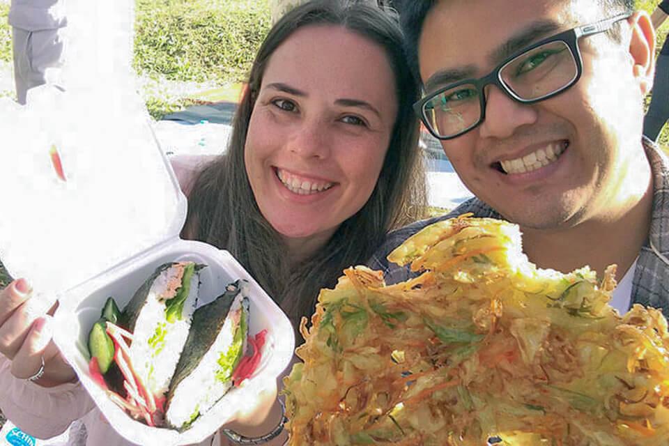 O que comer no Festival de Cerejeira? Comida típica japonesa