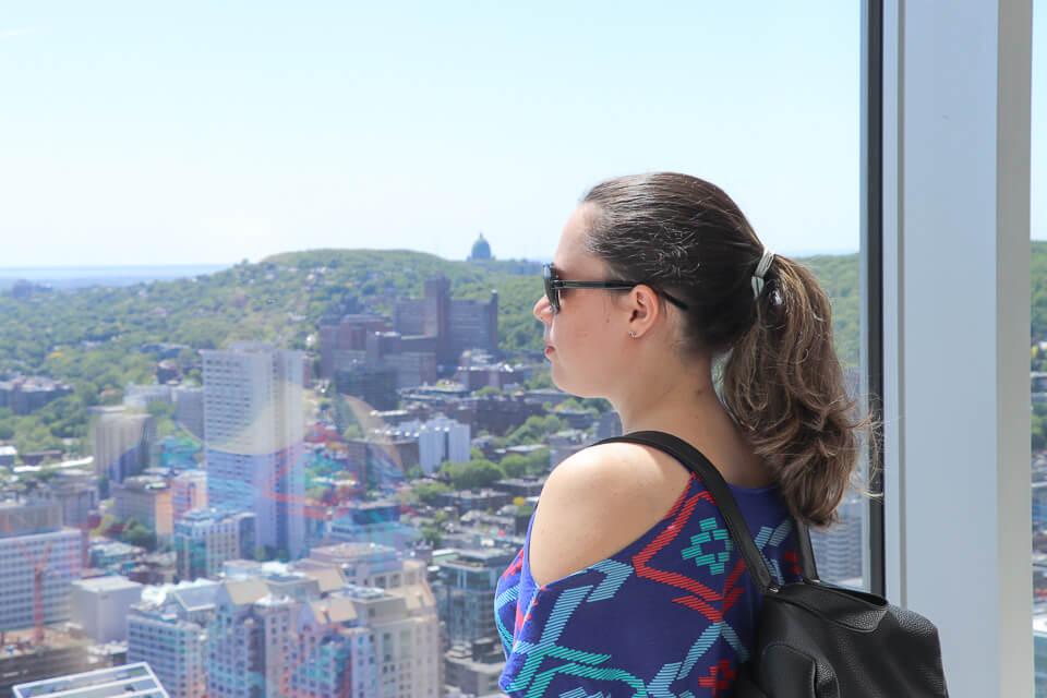Vista do Au Sommet Place para o Mont Royal, Montreal