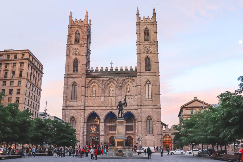 O que ver e fazer em Montreal? Basílica de Notre Dame de Montreal