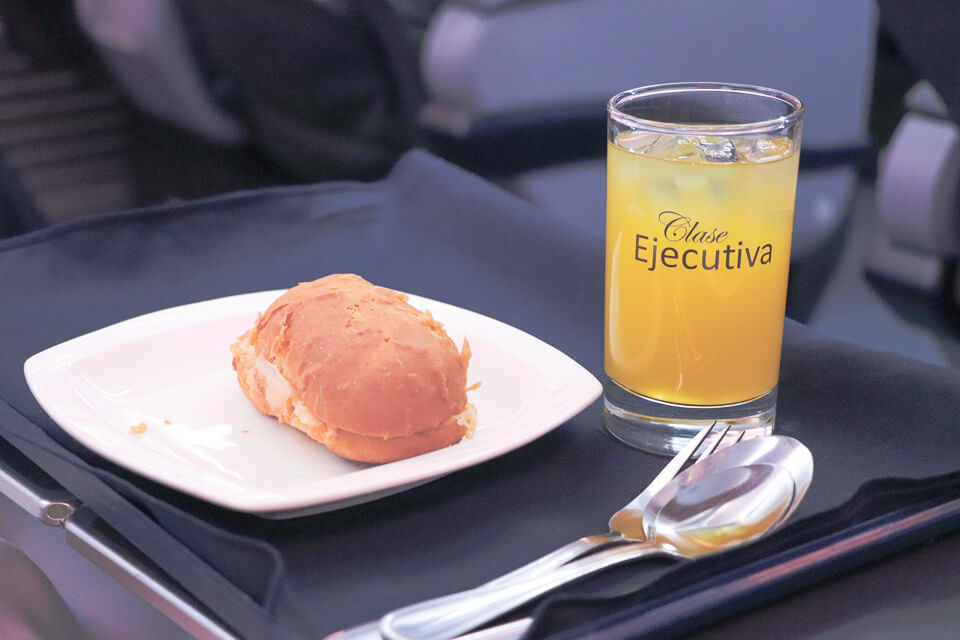 Como é voar Copa Airlines? Lanche da classe executiva (business)