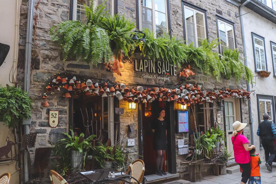Opções de restaurantes em Quebec? Quartier Petit Champlain