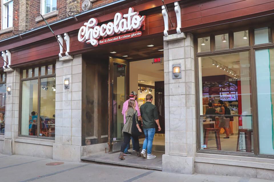 Onde tomar sorvete em Quebec City? Chocolato