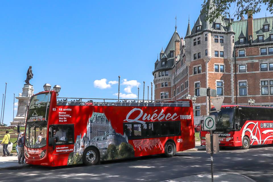 City Tour em Quebec passa pelo Chateau Frontanec - Canada