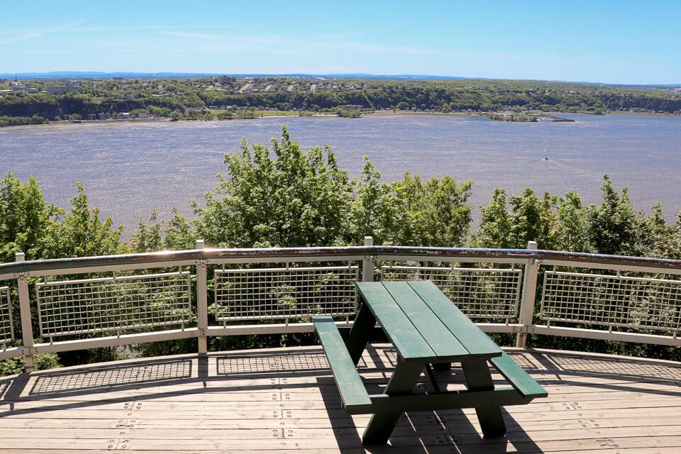 Vista para o Rio São Lourenço a partir do Plains of Abraham