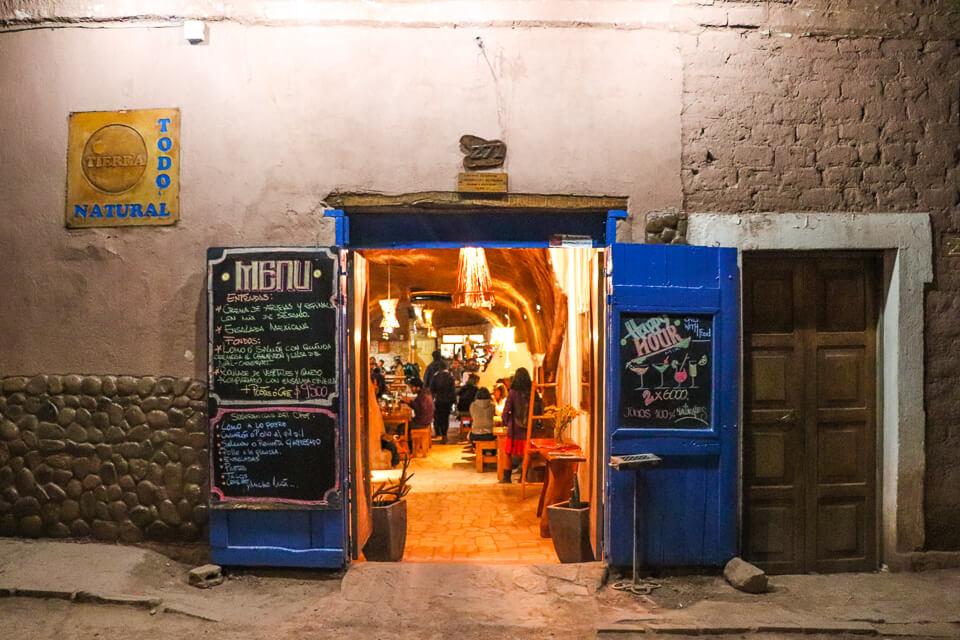 opções de comida vegetariana em San Pedro de Atacama