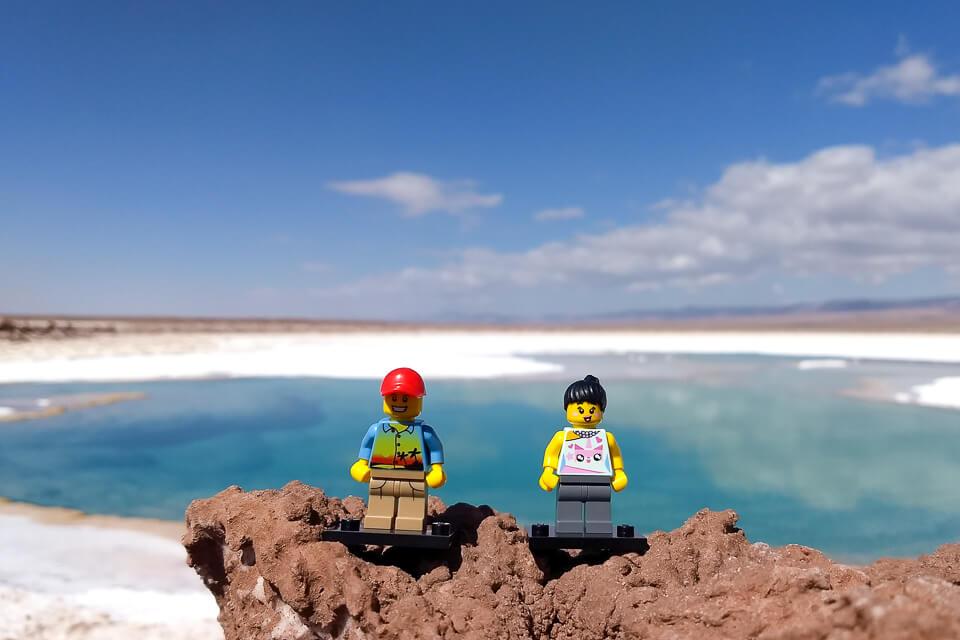 Pode entrar nas Lagunas Escondidas de Baltinache - Deserto do Atacama
