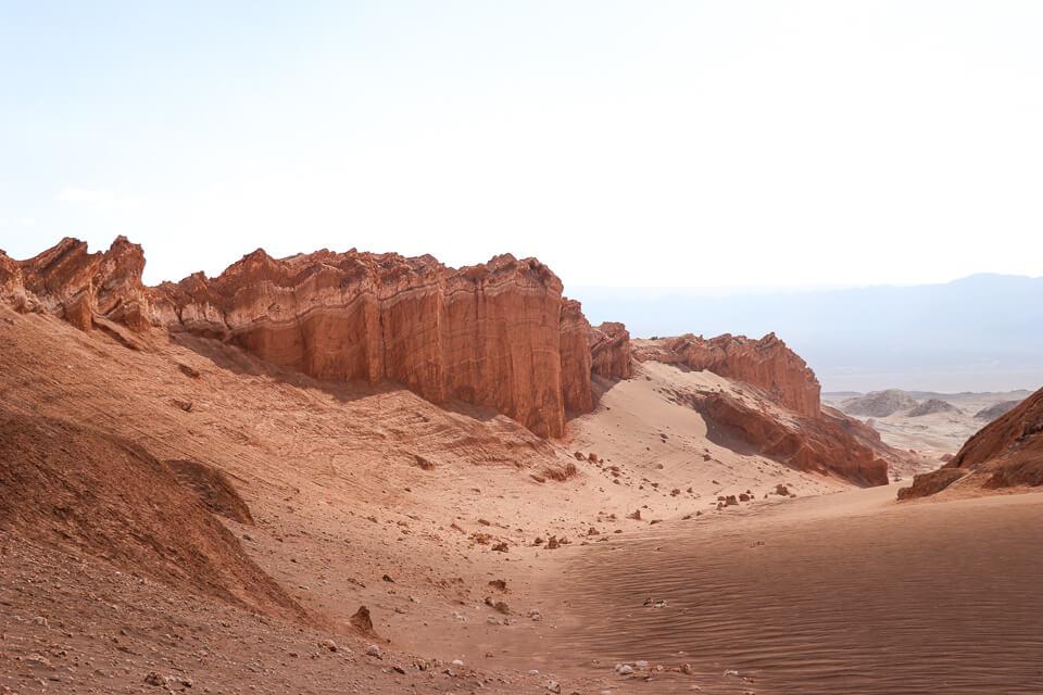Principais pontos turísticos do deserto do Atacama valle de la luna e o valle de la muerte