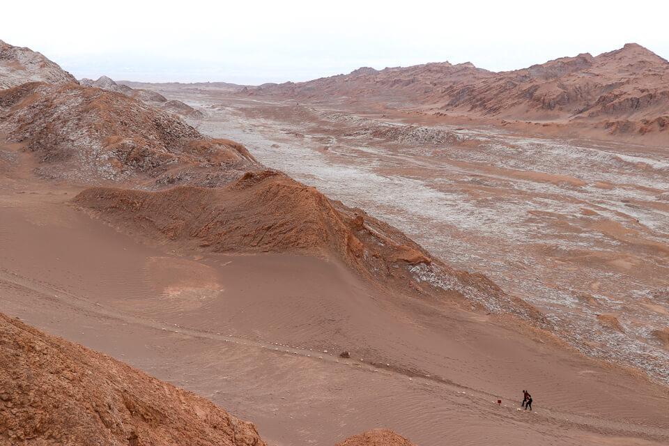Como é o trekking no valle de la luna e o valle de la muerte