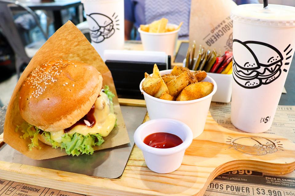 Lugares para comer hambúrguer em Santiago do Chile - La Sanguchera del Barrio